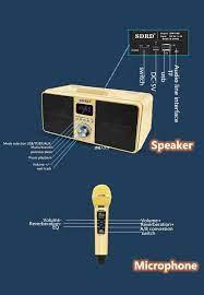 Loa Karaoke 40W Di Động Di Chuyển KTV Cột Có 2 Micro Không Dây Loa  Bluetooth 3D Âm Thanh Vòm Nhà Nhà Hát Âm Thanh M|Portable Speakers