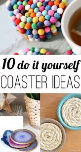 10 fun diy coasters ideas