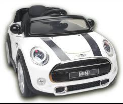 electric ride on toy car mini cooper remote control white original license squizzas