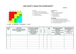 Job Hazard Analysis Form Template Incredible New Safety