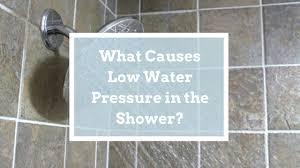 low pressure shower
