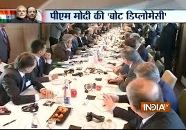 pm modi attends round table conference with infrastructure ceos in france india tv you
