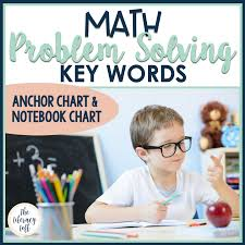 Anchor Chart Notebook Math Key Words For Problem Solving Notebook Anchor Chart