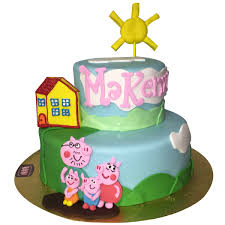1639 Peppa Pig Birthday Cake Abc Cake Shop Bakery
