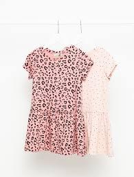 <b>Набор из двух</b> платьев для девочек цвет: темно-розовый ...