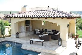 detached solid roof patio covers pool