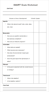 Smart Goals Template Smart Goal Template 4 Free Pdf Word Documents Download