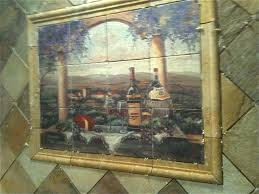 Tile Murals For Kitchen Tuscan Stone Kitchen Backsplash Tile Mural Creative Arts