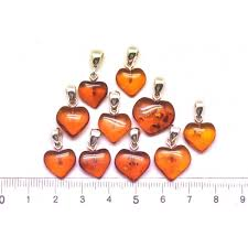 amber pendants lot of 10 cognac baltic amber heart shape pendants