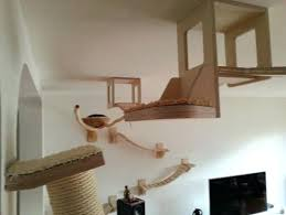 wall mounted cat furniture. Wall Mounted Cat Trees Plush Design Tree Home Designing Hung Furniture L