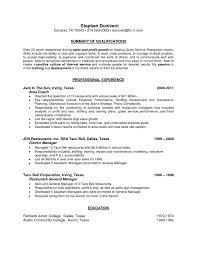 Resume Samples For Restaurant Manager Download Now Hotel General