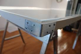 diy pallet and sawhorse desk the reveal