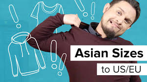 Ebay Asian Size Chart Asian Sizes To Us European Clothing Size Chart For Dropshipping