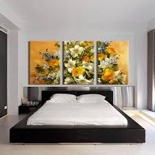 >3 pieces modern abstract huge wall art oil painting on canvas print  3 pieces modern abstract huge wall art oil painting on canvas print for the classic flowers