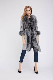 1807002 long wool coat with fox fur front eileenhou 7