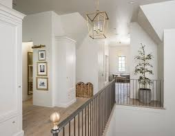 lighting for hallways and landings. Second Floor Landing With Iron Staircase Railing And Brass Finials Lighting For Hallways Landings