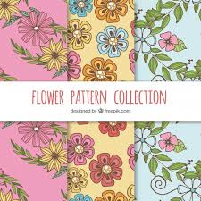colorful flower patterns. Plain Colorful Colorful Flowers Patterns Collection Free Vector Intended Flower Patterns N