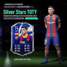"""SAF Harrison on Twitter: """"Could we see a Silver Stars TOTY? 🌟 #Pedri  González 🇪🇸 Collab w/ @Elitage_ #TOTY #FUT21 #FIFA21… """""""