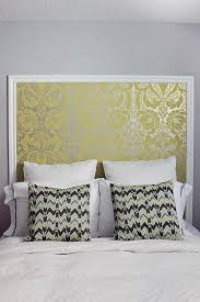 My House: Guest Room, Wallpaper Headboard