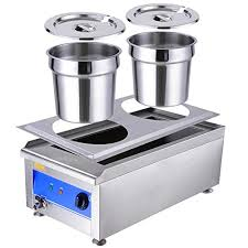 commercial countertop food warmer w2 pots soup station