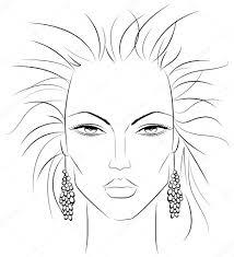 930x1023 makeup template v2 stock vector artlover