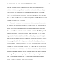 mais final essay   20 career development and community