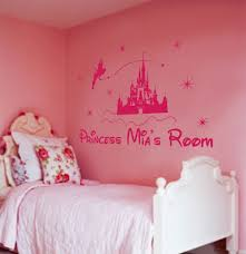 princess castle personliased wall art decal new of personalized wall decal