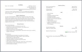 Two Pages Resume Format 2 Page Template Functional Portrayal 28