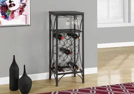 home bar 40 h black metal wine bottle and glass rack