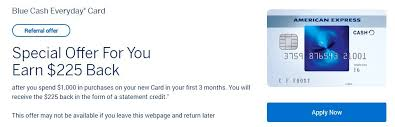 Earn a $100 statement credit with the blue cash everyday card from american express. My Favorite Cash Back Credit Card 225 Sign Up Bonus The Frugal South