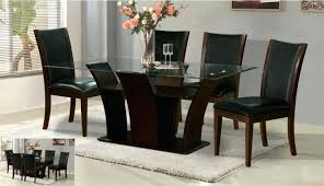 medium size of round glass dining table wooden base rectangular wood with dark beautiful design inspiration