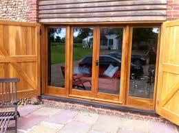 sliding patio door exterior. White Glaze Wooden Sliding Patio Door Exterior