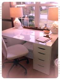 desk ikea desk trestle glass top 2 5 drawer alex drawers and 47 highgloss white