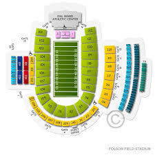 Cu Folsom Field Seating Chart Folsom Field Stadium Tickets Colorado Buffaloes Home Games