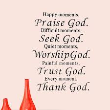 Praising God Quotes Awesome Praise God Trust Thank God Wall Decals Quote Sticker Room Decor