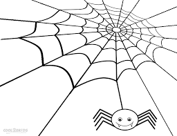 Small Picture Printable Spider Web Coloring Pages For Kids Cool2bKids