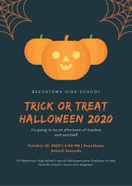 Costume Contest Flyer Template Black Woman Wearing Halloween Makeup Halloween Flyer