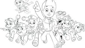 Coloring Pages Paw Patrol Rubble Paw Patrol Color Page Chase Paw