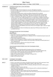 System Integration Test Engineer Resume Samples Velvet Jobs