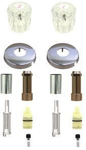 valley eljer washerless old style 2 valve tub shower kit