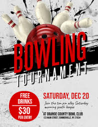 Bowling Event Flyer 310 Bowling Customizable Design Templates Postermywall
