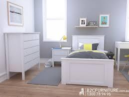 Kids Bedroom Furniture White Dandenong Single Bed White Kids Beds B2c Furniture