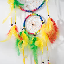 Asian Dream Catcher 100 Traditional Rainbow Dream Catcher with Feathers Wall or Car 51