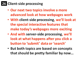 client side processing client side processing ppt  2 client side