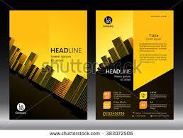Brochure Template Design Concept Architecture Design Stock Vector ...
