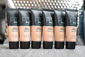 Maybelline Fit Me Colour Chart Fit Me Matte And Poreless Review Oily Sensitive Skin
