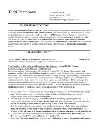 senior executive resume thompson todd senior executive resume 2012