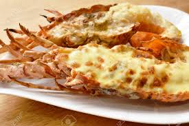 Grilled Lobster Shrimp With Cheese And ...