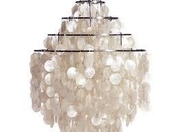 large white fun 0 dm shell capiz ceiling light pendant