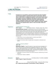 Special Education Teacher Resume Objective Sample Teaching Delectable Early Childhood Education Resume